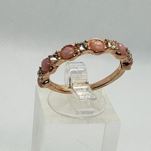 Rose gold Fire opal ring